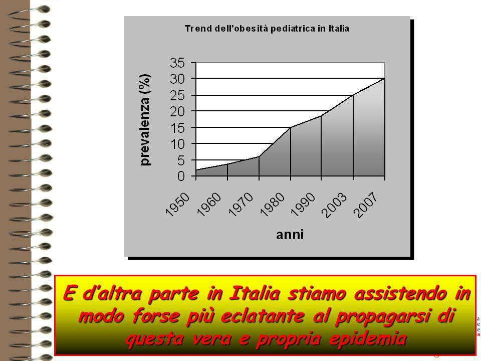 E daltra parte in Italia stiamo assistendo in modo forse più eclatante al propagarsi di questa vera e propria epidemia