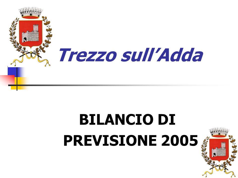 1 Trezzo sullAdda BILANCIO DI PREVISIONE 2005