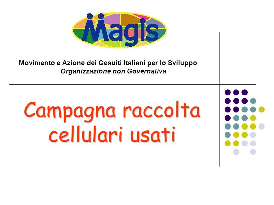 Campagna raccolta cellulari usati Movimento e Azione dei Gesuiti Italiani per lo Sviluppo Organizzazione non Governativa