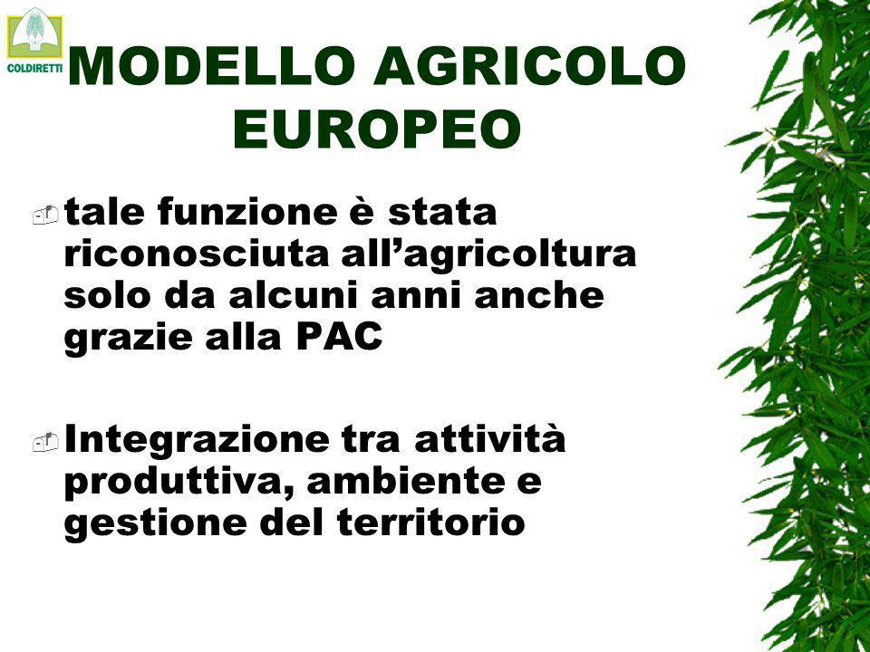 IL COINVOLGIMENTO DELLE IMPRESE AGRICOLE lattività agricola è da sempre per sua natura parte integrante del territorio e del paesaggio (multifunzionalità)