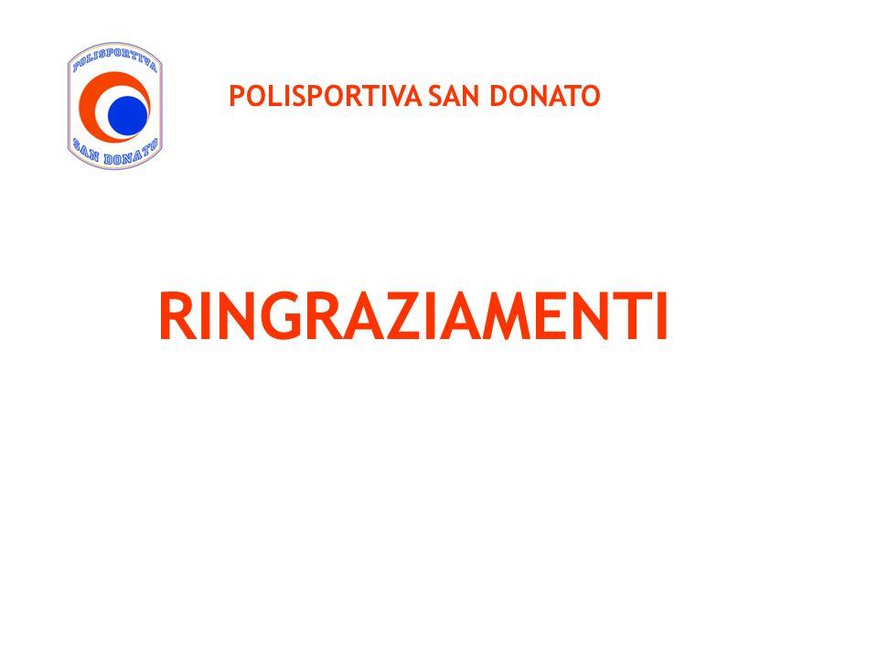 POLISPORTIVA SAN DONATO RINGRAZIAMENTI