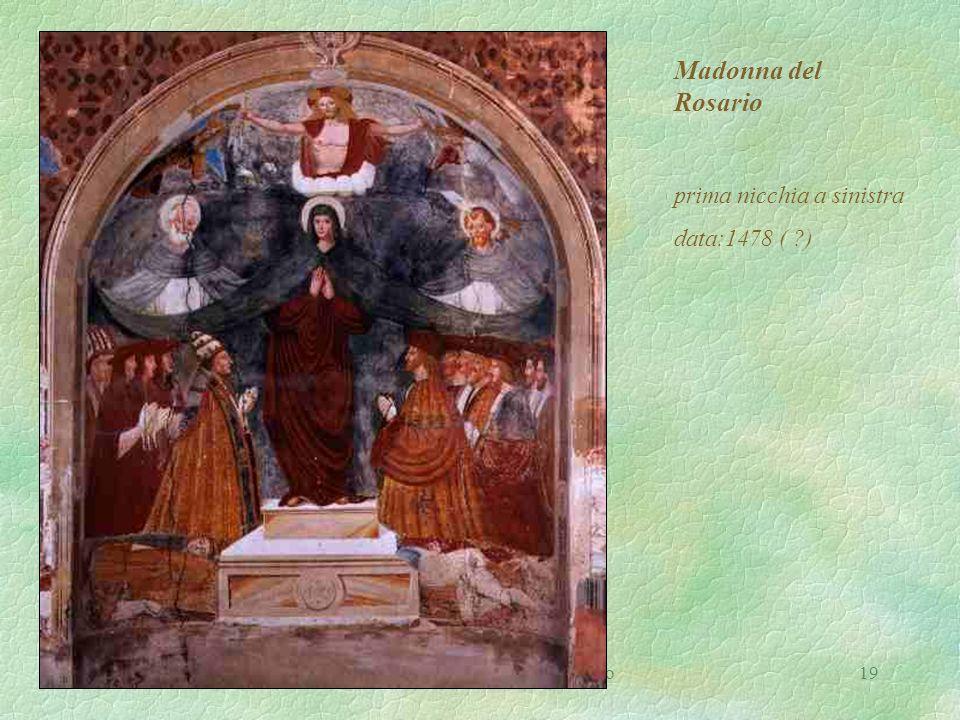 I.P.S.S.C.T. P. Verri Busto Arsizio19 Madonna del Rosario prima nicchia a sinistra data:1478 ( ?)