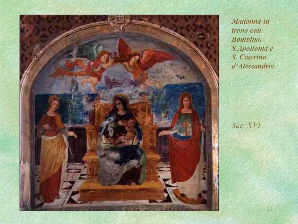 I.P.S.S.C.T. P. Verri Busto Arsizio21 Madonna in trono con Bambino, S.Apollonia e S.