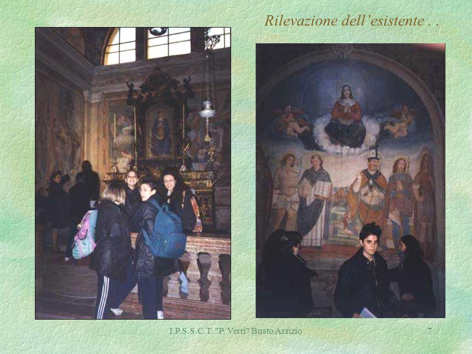 I.P.S.S.C.T. P. Verri Busto Arsizio7 Rilevazione dellesistente..