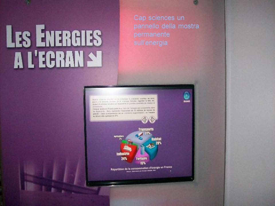 Cap sciences un pannello della mostra permanente sullenergia