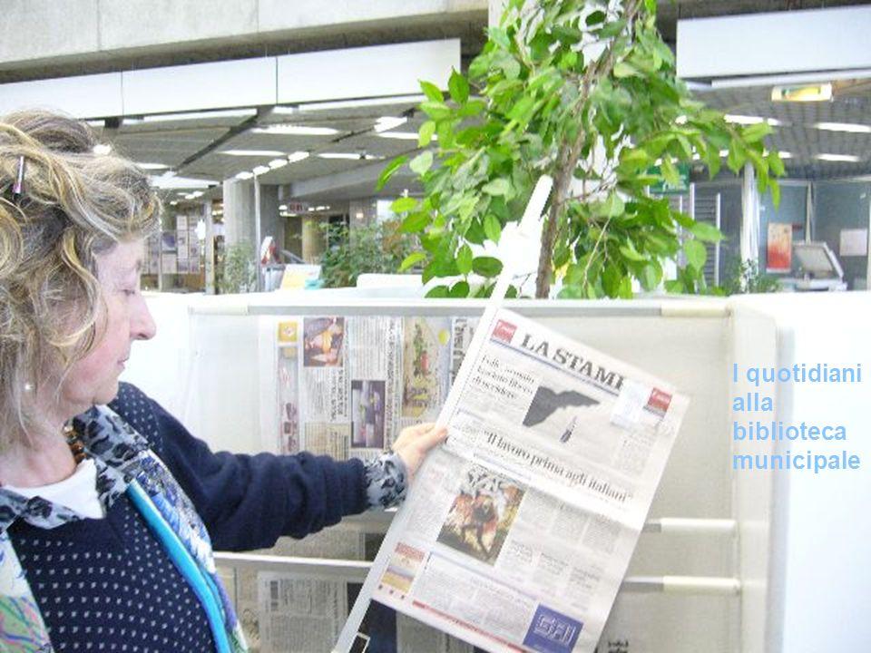 I quotidiani alla biblioteca municipale