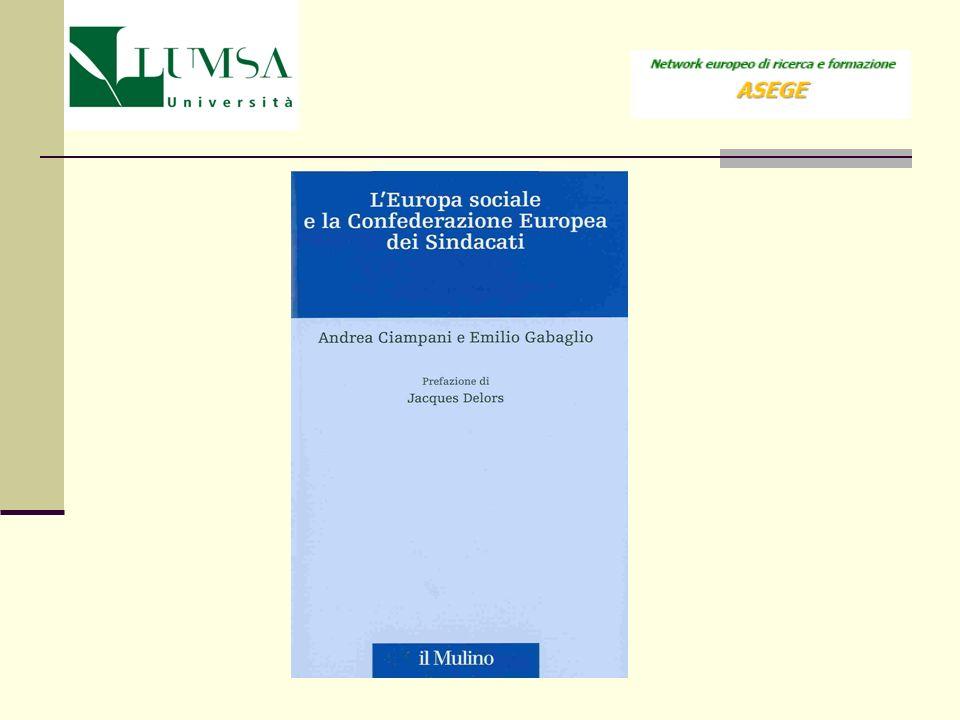 Titolo XI del trattato di Amsterdam, Politica sociale, istruzione, formazione professionale e gioventù, articoli 137 - 139.