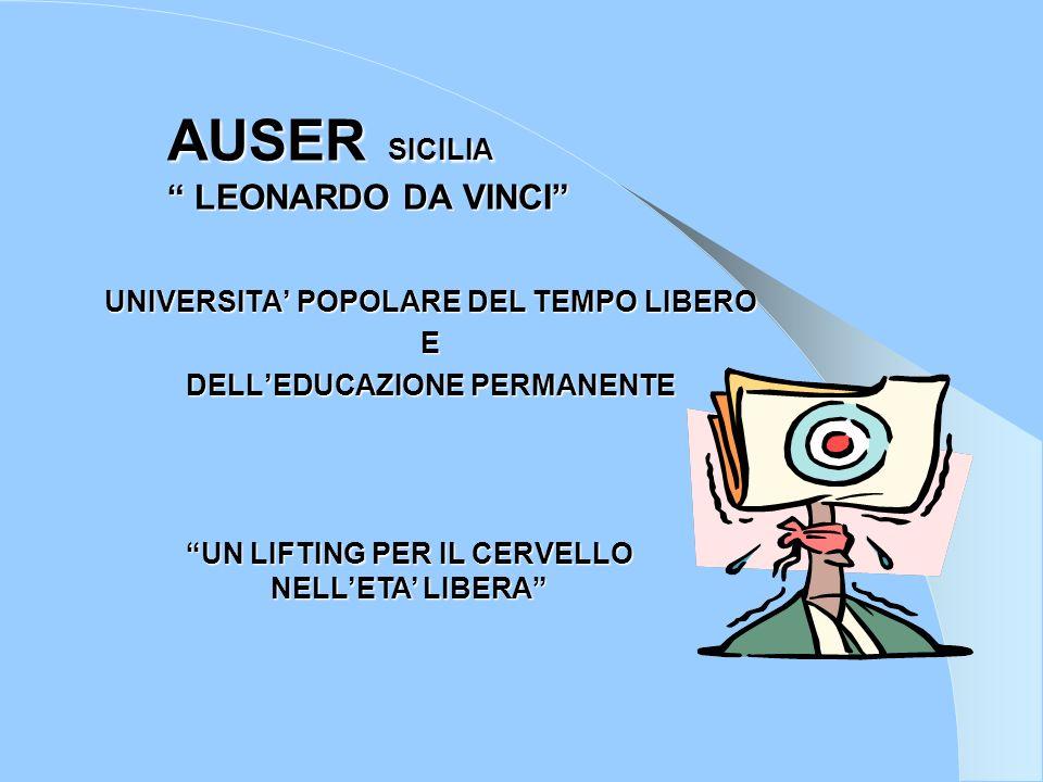 AUSER L.DA VINCI AUSER L. DA VINCI Tel.091.6253556 cell.