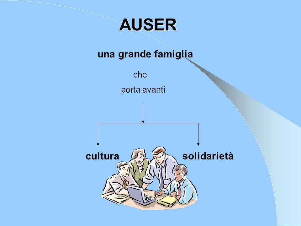 una grande famiglia che porta avanti cultura solidarietà AUSER