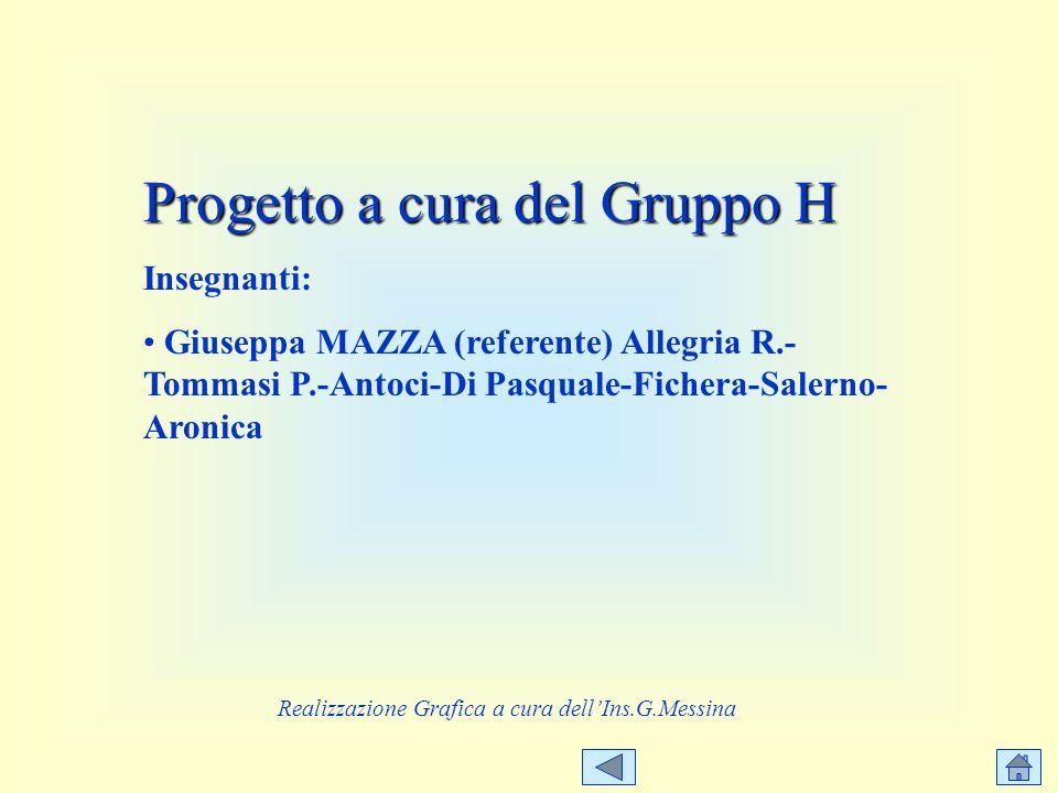 Progetto a cura del Gruppo H Insegnanti: Giuseppa MAZZA (referente) Allegria R.- Tommasi P.-Antoci-Di Pasquale-Fichera-Salerno- Aronica Realizzazione