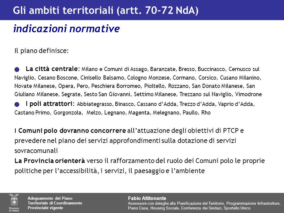 Gli ambiti territoriali (artt.