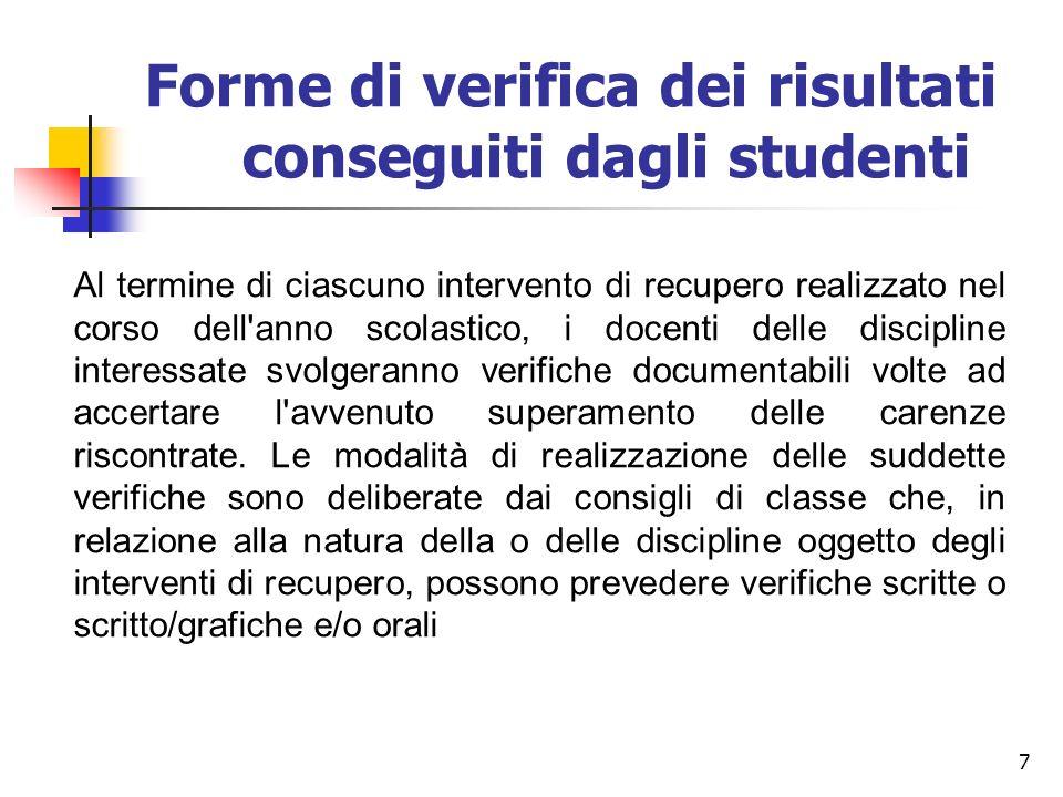 18 SCRUTINI FINALI (giugno) sospensione del giudizio Per gli studenti che presentano in una o più discipline valutazioni insufficienti (massimo 3 insufficienze lievi)