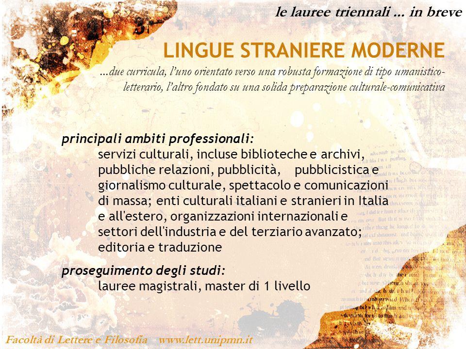 Facoltà di Lettere e Filosofia www.lett.unipmn.it...