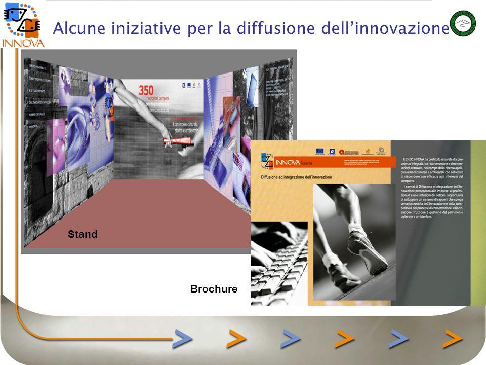 Alcune iniziative per la diffusione dellinnovazione Stand Brochure