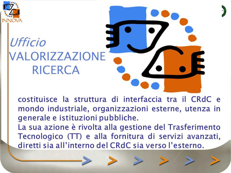 costituisce la struttura di interfaccia tra il CRdC e mondo industriale, organizzazioni esterne, utenza in generale e istituzioni pubbliche.
