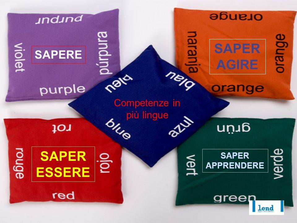 Competenze in più lingue SAPERE SAPER AGIRE SAPER ESSERE SAPER APPRENDERE