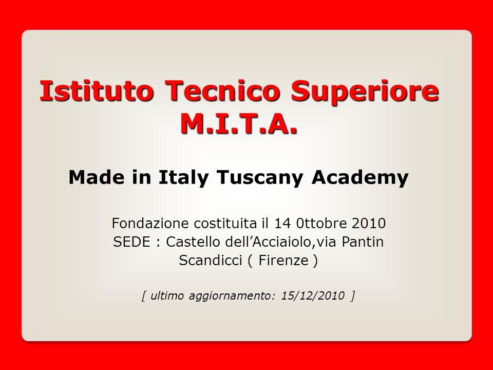 Istituto Tecnico Superiore M.I.T.A. Istituto Tecnico Superiore M.I.T.A.