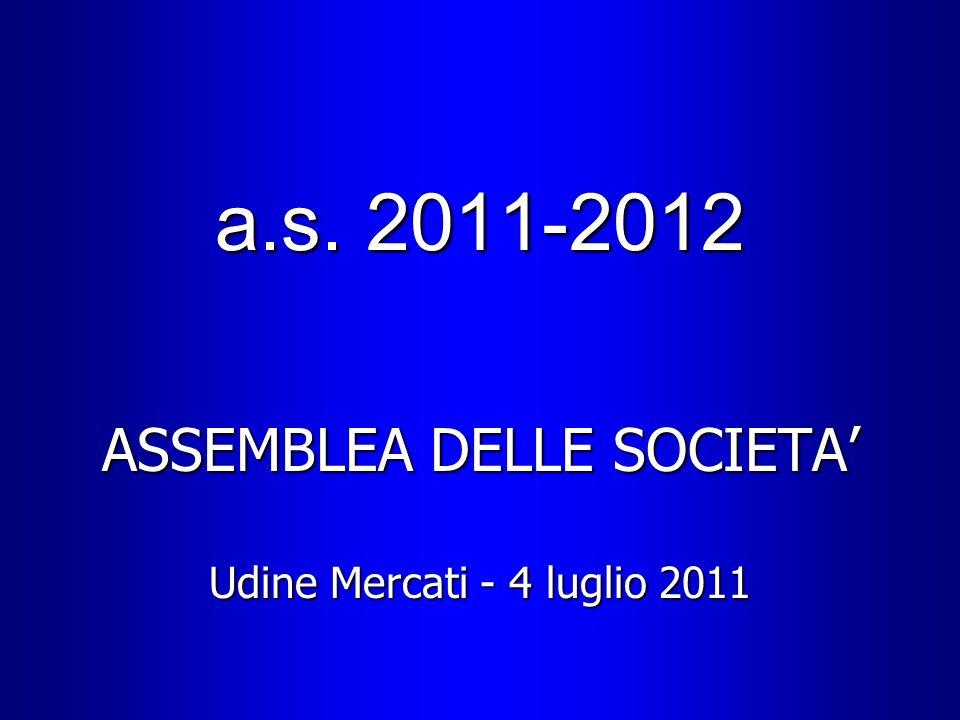 a.s. 2011-2012 ASSEMBLEA DELLE SOCIETA Udine Mercati - 4 luglio 2011