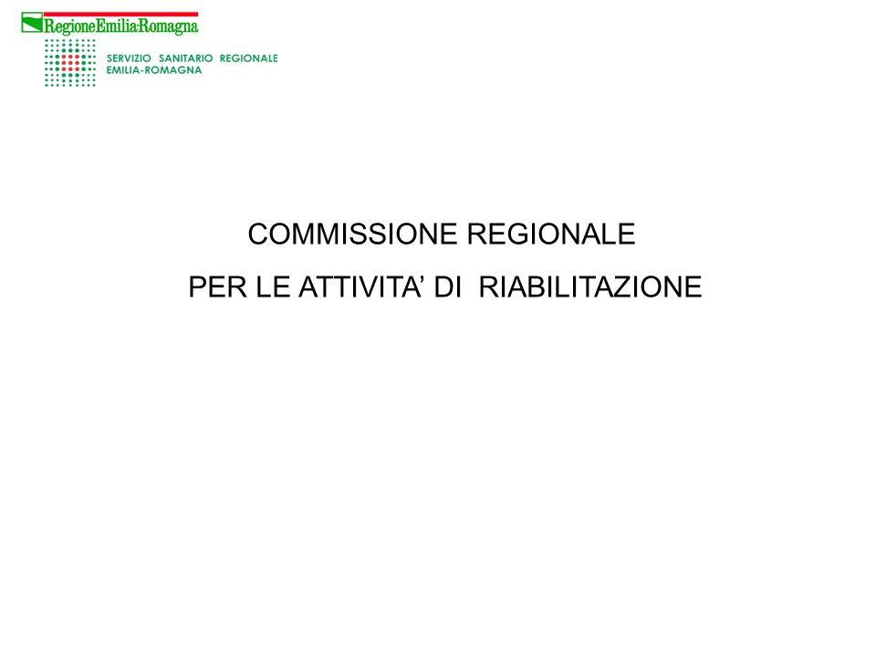 COMMISSIONE REGIONALE PER LE ATTIVITA DI RIABILITAZIONE