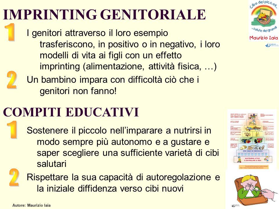 I genitori attraverso il loro esempio trasferiscono, in positivo o in negativo, i loro modelli di vita ai figli con un effetto imprinting (alimentazio