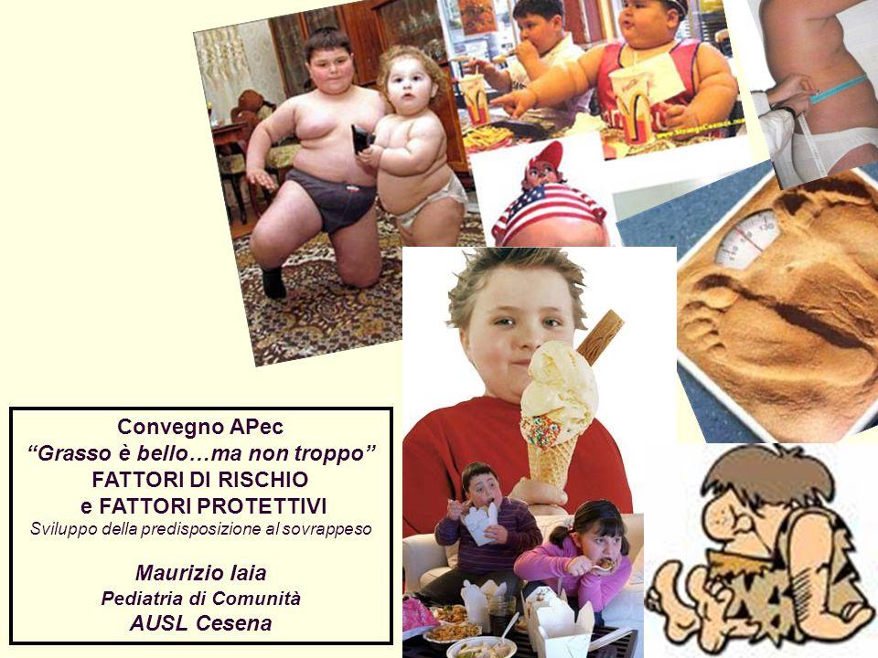 Convegno APec Grasso è bello…ma non troppo FATTORI DI RISCHIO e FATTORI PROTETTIVI Sviluppo della predisposizione al sovrappeso Maurizio Iaia Pediatri