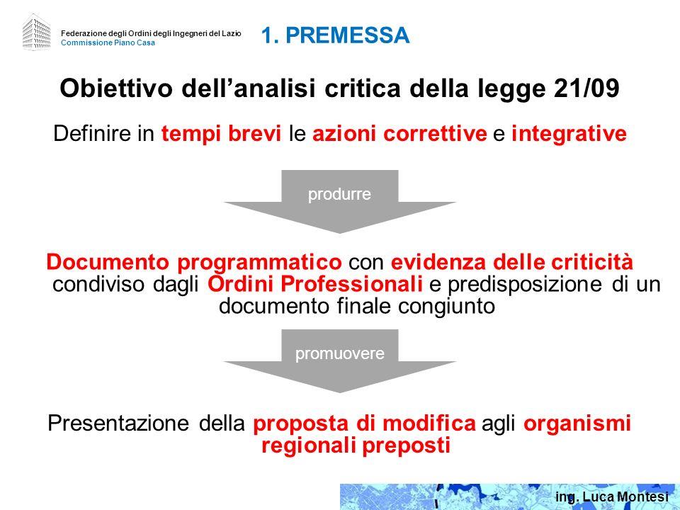 Federazione degli Ordini degli Ingegneri del Lazio Commissione Piano Casa 0.