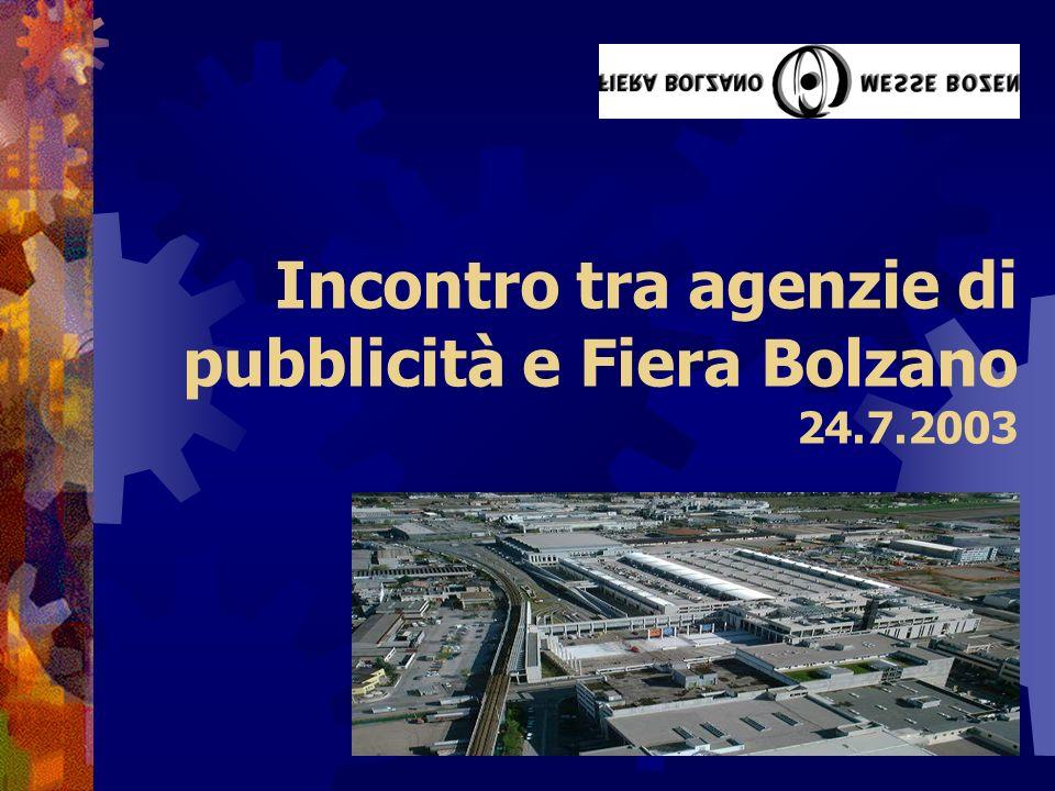 Incontro tra agenzie di pubblicità e Fiera Bolzano 24.7.2003