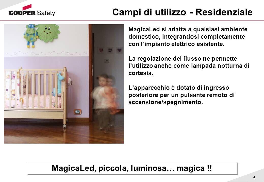 4 Campi di utilizzo - Residenziale MagicaLed si adatta a qualsiasi ambiente domestico, integrandosi completamente con limpianto elettrico esistente. L