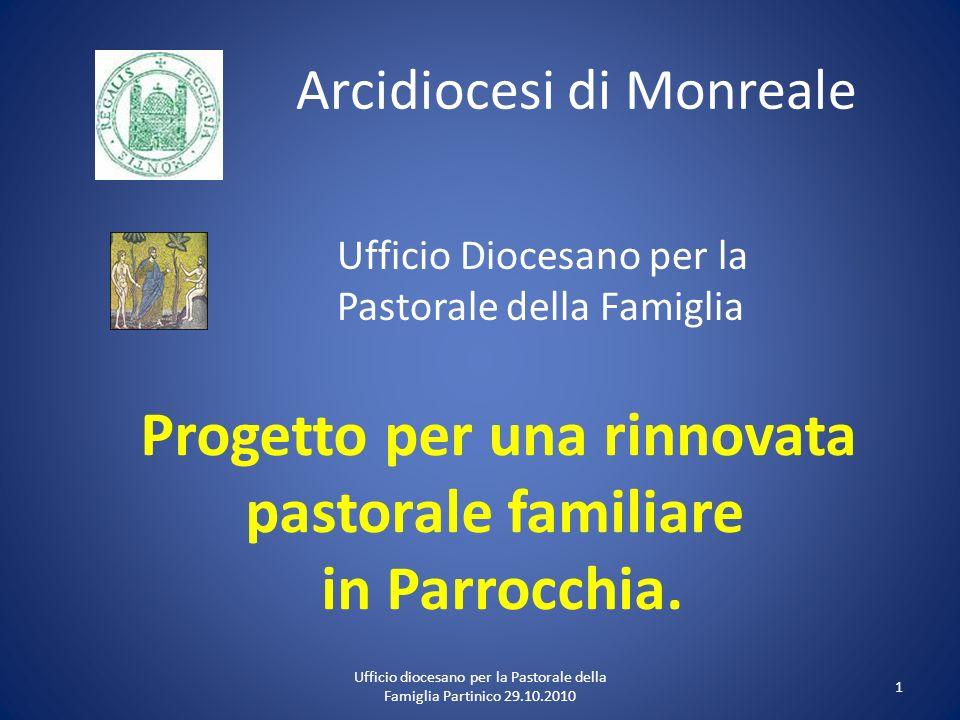 Arcidiocesi di Monreale Ufficio Diocesano per la Pastorale della Famiglia Progetto per una rinnovata pastorale familiare in Parrocchia. 1 Ufficio dioc