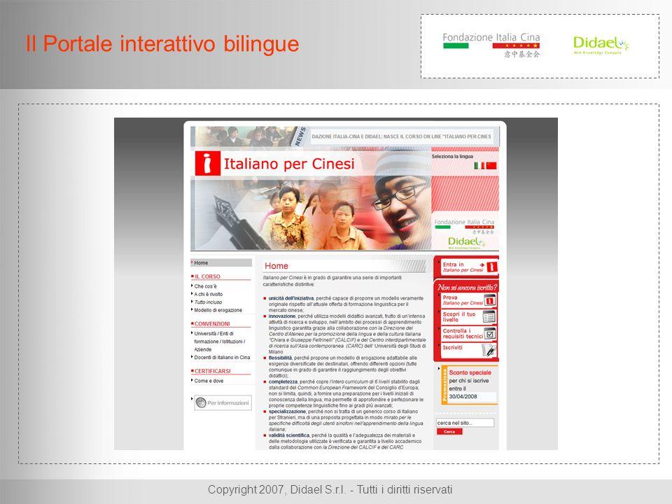 Copyright 2007, Didael S.r.l. - Tutti i diritti riservati Il Portale interattivo bilingue