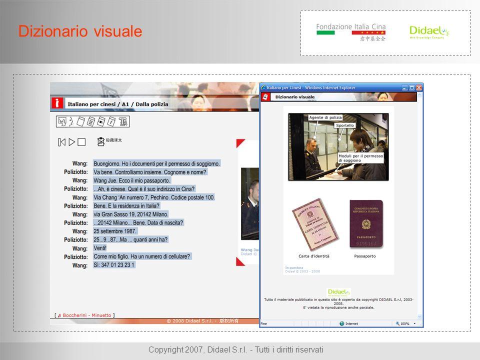Copyright 2007, Didael S.r.l. - Tutti i diritti riservati Dizionario visuale