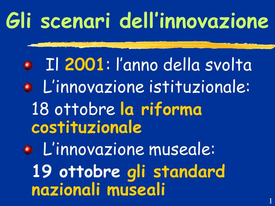La riforma costituzionale Il federalismo è loccasione per innovare la gestione di musei e beni culturali 2