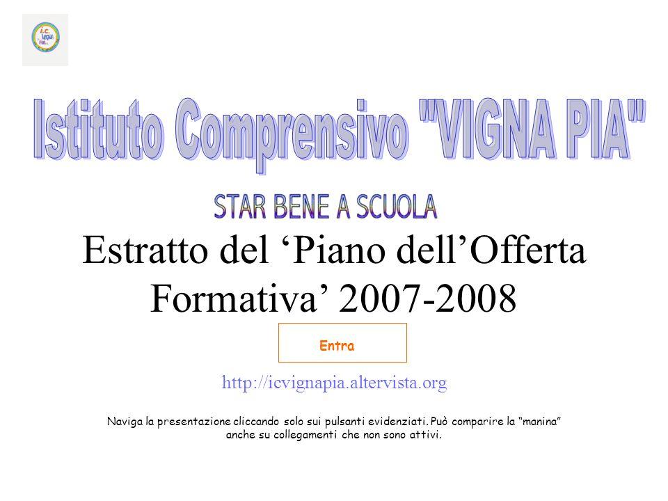 Estratto del Piano dellOfferta Formativa 2007-2008 http://icvignapia.altervista.org Naviga la presentazione cliccando solo sui pulsanti evidenziati.