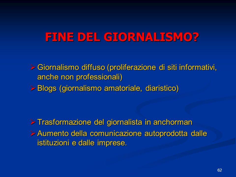 62 FINE DEL GIORNALISMO.