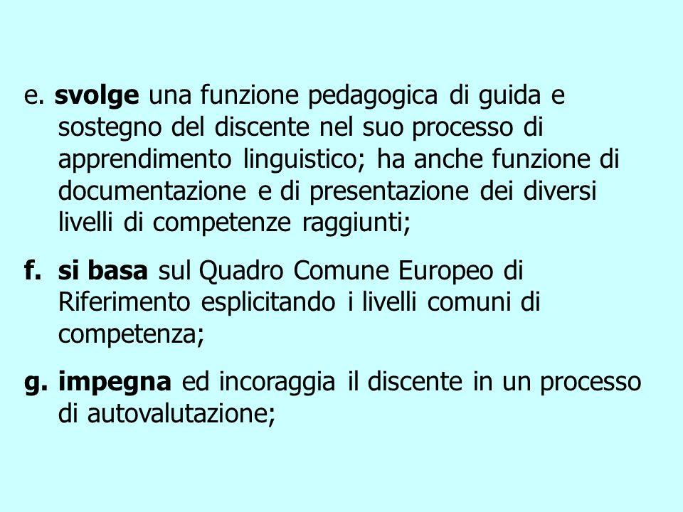 Principi del Portfolio Europeo delle Lingue Il PEL a.è uno strumento che promuove il plurilinguismo ed il pluralismo culturale; b.è di proprietà del d