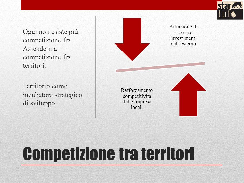 Competizione tra territori Attrazione di risorse e investimenti dallesterno Rafforzamento competitività delle imprese locali Oggi non esiste più competizione fra Aziende ma competizione fra territori.