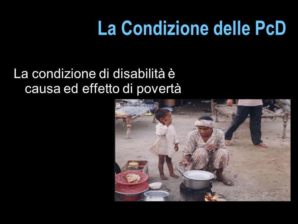 La Condizione delle PcD La condizione di disabilità è causa ed effetto di povertà