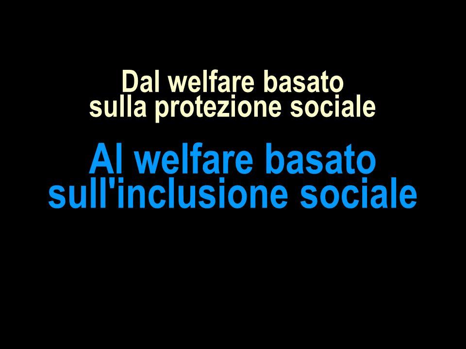Dal welfare basato sulla protezione sociale Al welfare basato sull'inclusione sociale