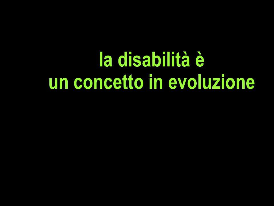 la disabilità è un concetto in evoluzione