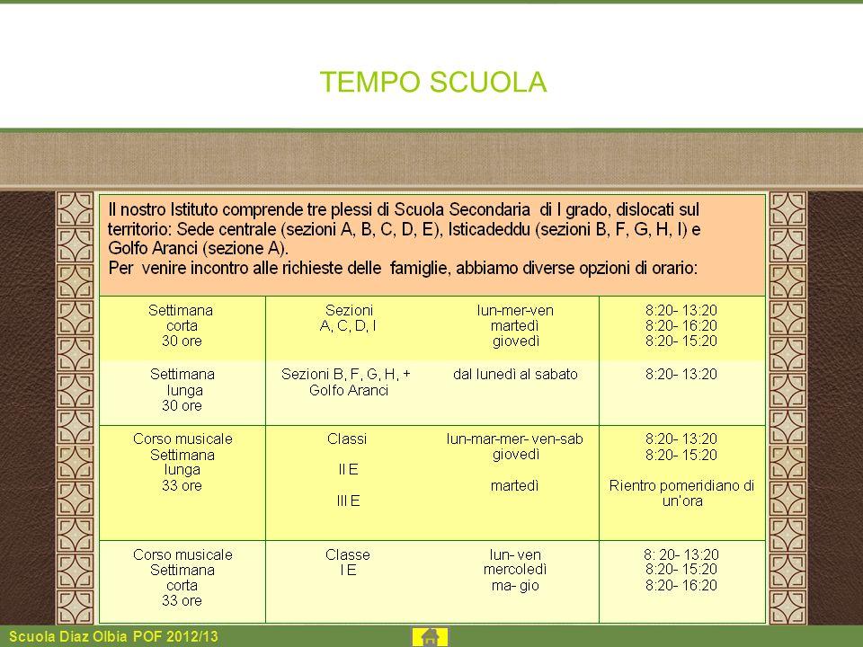 Scuola Diaz Olbia POF 2012/13 TEMPO SCUOLA