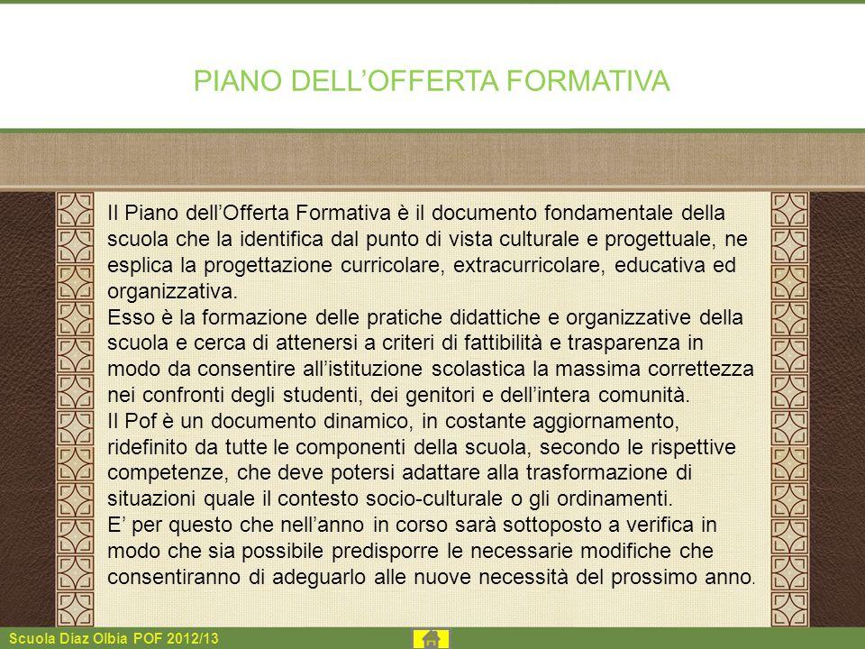 PIANO DELLOFFERTA FORMATIVA Il Piano dellOfferta Formativa è il documento fondamentale della scuola che la identifica dal punto di vista culturale e p