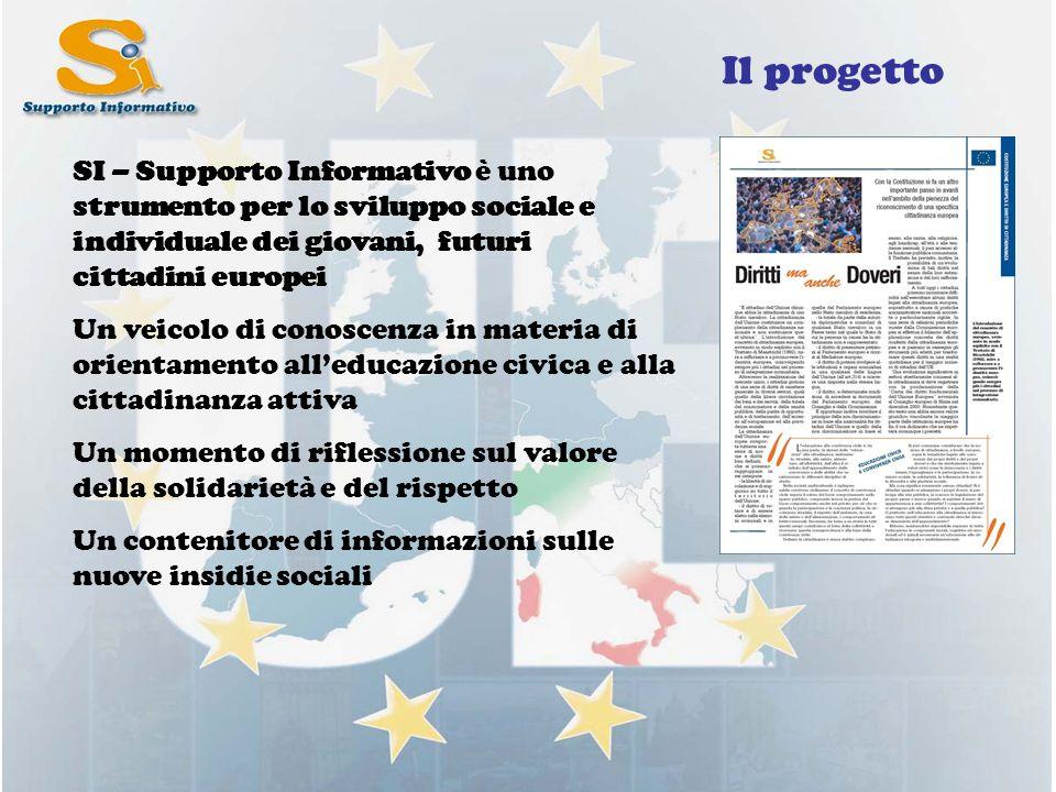 Il progetto SI – Supporto Informativo è uno strumento per lo sviluppo sociale e individuale dei giovani, futuri cittadini europei Un veicolo di conosc