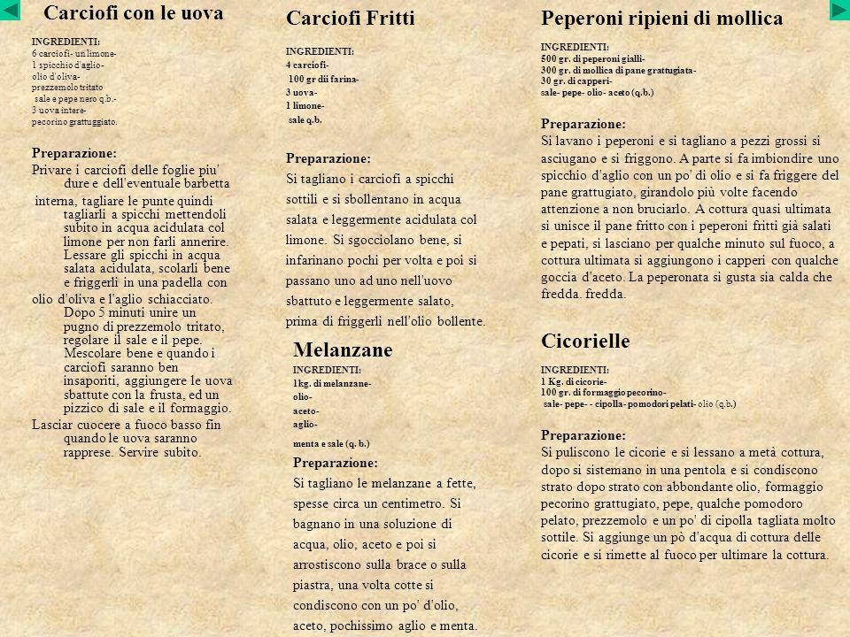 Carciofi con le uova INGREDIENTI: 6 carciofi- un limone- 1 spicchio d'aglio- olio d'oliva- prezzemolo tritato sale e pepe nero q.b.- 3 uova intere- pe