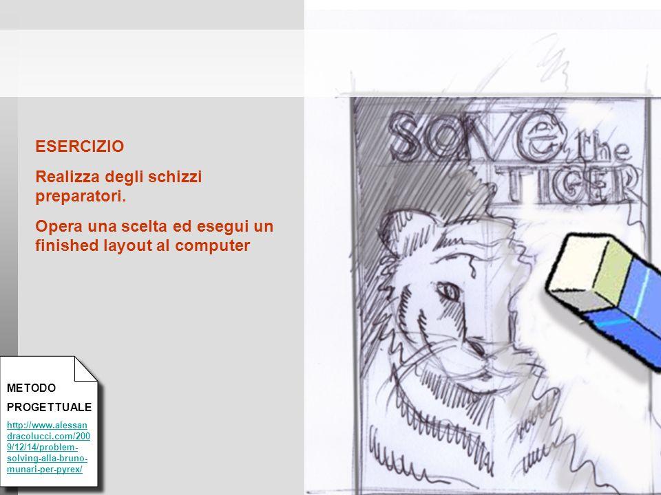 METODO PROGETTUALE http://www.alessan dracolucci.com/200 9/12/14/problem- solving-alla-bruno- munari-per-pyrex/ ESERCIZIO Realizza degli schizzi prepa