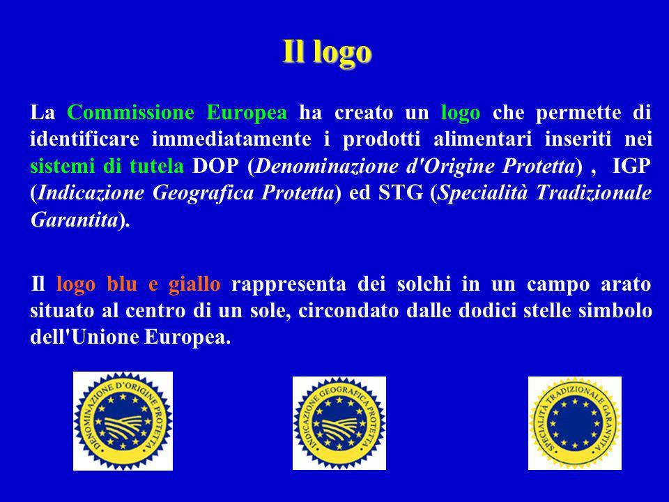 La Commissione Europea ha creato un logo che permette di identificare immediatamente i prodotti alimentari inseriti nei sistemi di tutela DOP (Denomin