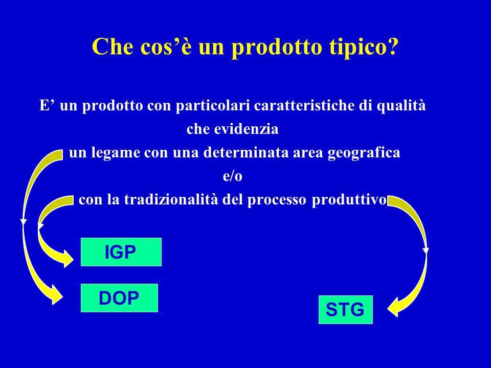 I prodotti DOP, IGP ed STG sono prodotti regolamentati da leggi italiane e comunitarie.