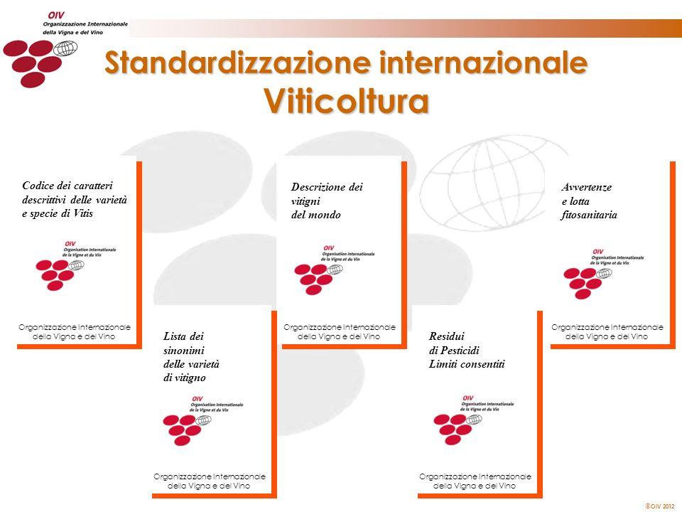 OIV 2012 Standardizzazione internazionale Viticoltura Descrizione dei vitigni del mondo Organizzazione Internazionale della Vigna e del Vino Lista dei