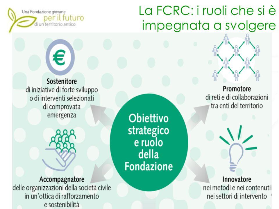 7 La FCRC: i ruoli che si è impegnata a svolgere