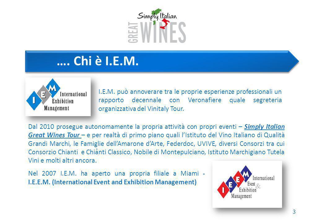 4 Cosè Simply Italian Great Wines Simply Italian Great Wines, è il marchio creato da I.E.M.