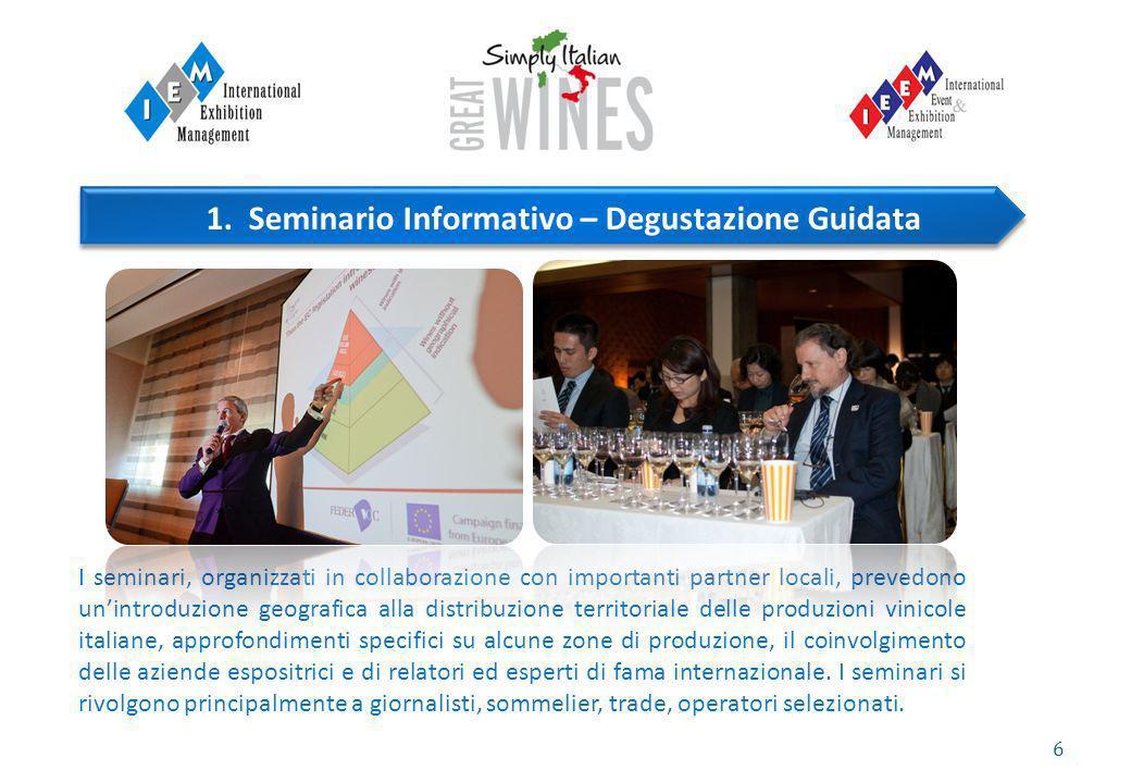 6 I seminari, organizzati in collaborazione con importanti partner locali, prevedono unintroduzione geografica alla distribuzione territoriale delle p